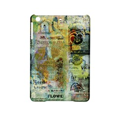 Old Newspaper And Gold Acryl Painting Collage iPad Mini 2 Hardshell Cases