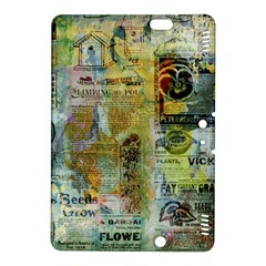 Old Newspaper And Gold Acryl Painting Collage Kindle Fire HDX 8.9  Hardshell Case