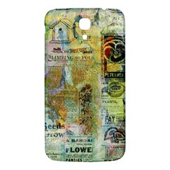 Old Newspaper And Gold Acryl Painting Collage Samsung Galaxy Mega I9200 Hardshell Back Case