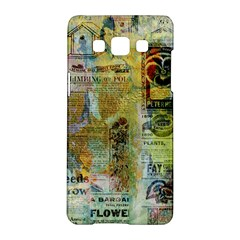 Old Newspaper And Gold Acryl Painting Collage Samsung Galaxy A5 Hardshell Case