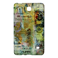 Old Newspaper And Gold Acryl Painting Collage Samsung Galaxy Tab 4 (7 ) Hardshell Case