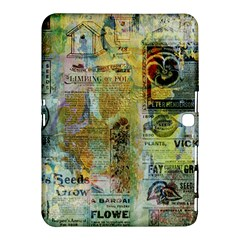 Old Newspaper And Gold Acryl Painting Collage Samsung Galaxy Tab 4 (10.1 ) Hardshell Case