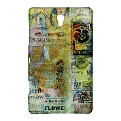 Old Newspaper And Gold Acryl Painting Collage Samsung Galaxy Tab S (8.4 ) Hardshell Case