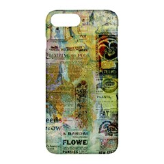 Old Newspaper And Gold Acryl Painting Collage Apple Iphone 7 Plus Hardshell Case