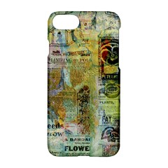 Old Newspaper And Gold Acryl Painting Collage Apple Iphone 7 Hardshell Case