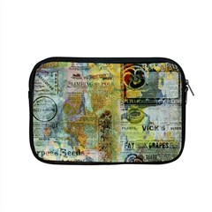 Old Newspaper And Gold Acryl Painting Collage Apple MacBook Pro 15  Zipper Case