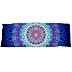 Power Flower Mandala   Blue Cyan Violet Body Pillow Case Dakimakura (Two Sides)