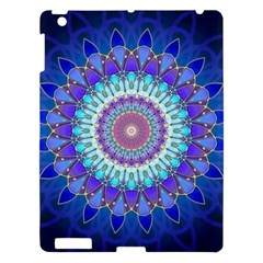 Power Flower Mandala   Blue Cyan Violet Apple iPad 3/4 Hardshell Case