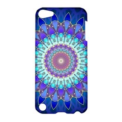 Power Flower Mandala   Blue Cyan Violet Apple iPod Touch 5 Hardshell Case