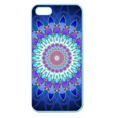 Power Flower Mandala   Blue Cyan Violet Apple Seamless iPhone 5 Case (Color)