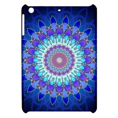 Power Flower Mandala   Blue Cyan Violet Apple iPad Mini Hardshell Case