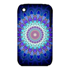 Power Flower Mandala   Blue Cyan Violet iPhone 3S/3GS