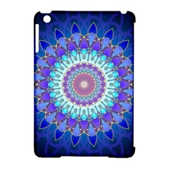 Power Flower Mandala   Blue Cyan Violet Apple iPad Mini Hardshell Case (Compatible with Smart Cover)