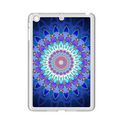Power Flower Mandala   Blue Cyan Violet iPad Mini 2 Enamel Coated Cases