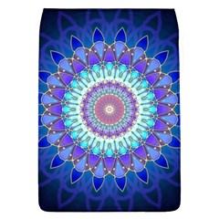 Power Flower Mandala   Blue Cyan Violet Flap Covers (L)