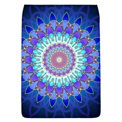 Power Flower Mandala   Blue Cyan Violet Flap Covers (S)
