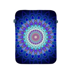 Power Flower Mandala   Blue Cyan Violet Apple iPad 2/3/4 Protective Soft Cases
