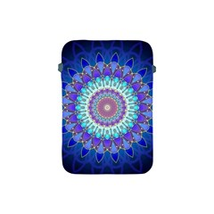 Power Flower Mandala   Blue Cyan Violet Apple iPad Mini Protective Soft Cases