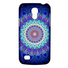 Power Flower Mandala   Blue Cyan Violet Galaxy S4 Mini