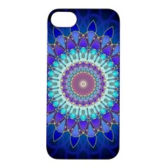 Power Flower Mandala   Blue Cyan Violet Apple iPhone 5S/ SE Hardshell Case