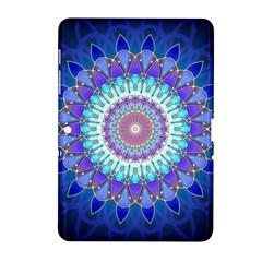 Power Flower Mandala   Blue Cyan Violet Samsung Galaxy Tab 2 (10.1 ) P5100 Hardshell Case