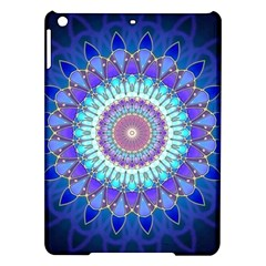 Power Flower Mandala   Blue Cyan Violet iPad Air Hardshell Cases