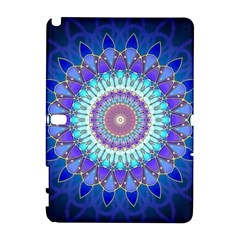Power Flower Mandala   Blue Cyan Violet Galaxy Note 1