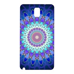 Power Flower Mandala   Blue Cyan Violet Samsung Galaxy Note 3 N9005 Hardshell Back Case