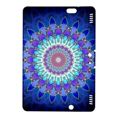 Power Flower Mandala   Blue Cyan Violet Kindle Fire HDX 8.9  Hardshell Case