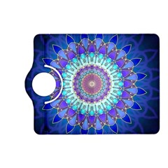 Power Flower Mandala   Blue Cyan Violet Kindle Fire HD (2013) Flip 360 Case