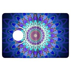 Power Flower Mandala   Blue Cyan Violet Kindle Fire HDX Flip 360 Case