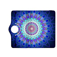 Power Flower Mandala   Blue Cyan Violet Kindle Fire HDX 8.9  Flip 360 Case