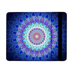Power Flower Mandala   Blue Cyan Violet Samsung Galaxy Tab Pro 8.4  Flip Case