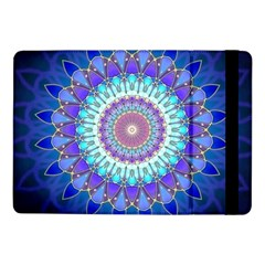 Power Flower Mandala   Blue Cyan Violet Samsung Galaxy Tab Pro 10.1  Flip Case