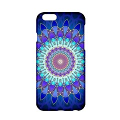 Power Flower Mandala   Blue Cyan Violet Apple iPhone 6/6S Hardshell Case