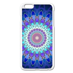 Power Flower Mandala   Blue Cyan Violet Apple iPhone 6 Plus/6S Plus Enamel White Case