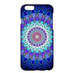Power Flower Mandala   Blue Cyan Violet Apple iPhone 6 Plus/6S Plus Hardshell Case