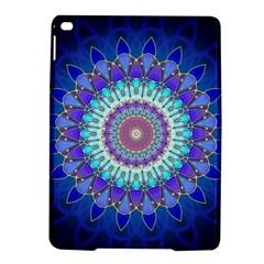 Power Flower Mandala   Blue Cyan Violet iPad Air 2 Hardshell Cases