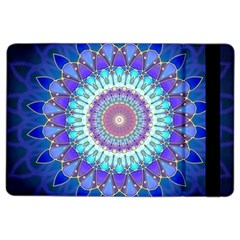 Power Flower Mandala   Blue Cyan Violet iPad Air 2 Flip
