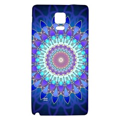 Power Flower Mandala   Blue Cyan Violet Galaxy Note 4 Back Case