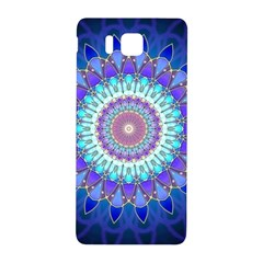 Power Flower Mandala   Blue Cyan Violet Samsung Galaxy Alpha Hardshell Back Case
