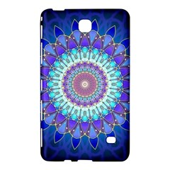 Power Flower Mandala   Blue Cyan Violet Samsung Galaxy Tab 4 (8 ) Hardshell Case