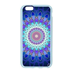 Power Flower Mandala   Blue Cyan Violet Apple Seamless iPhone 6/6S Case (Color)