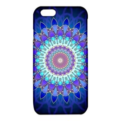 Power Flower Mandala   Blue Cyan Violet iPhone 6/6S TPU Case