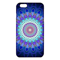 Power Flower Mandala   Blue Cyan Violet iPhone 6 Plus/6S Plus TPU Case