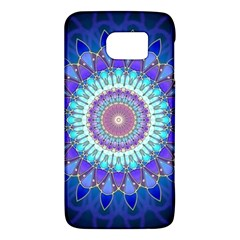 Power Flower Mandala   Blue Cyan Violet Galaxy S6
