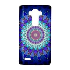 Power Flower Mandala   Blue Cyan Violet LG G4 Hardshell Case