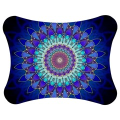 Power Flower Mandala   Blue Cyan Violet Jigsaw Puzzle Photo Stand (Bow)