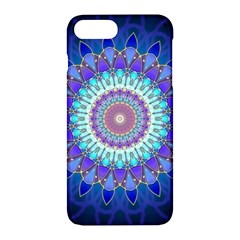 Power Flower Mandala   Blue Cyan Violet Apple Iphone 7 Plus Hardshell Case