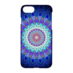Power Flower Mandala   Blue Cyan Violet Apple Iphone 7 Hardshell Case